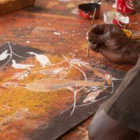 close-up-of-an-aboriginal-painting-200x200 Mikinj Valley (Red Lily) Arnhem Land sightseeing tour – departs Jabiru